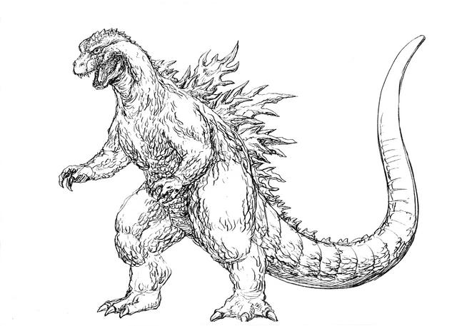 File:Concept Art - Godzilla 2000 Millennium - Godzilla 7.png