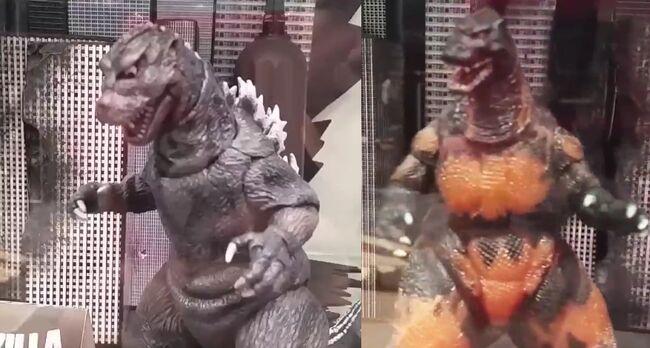 NECA Godzilla 1984 and 1995