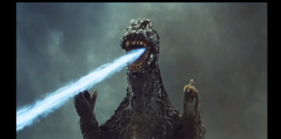The first time Godzilla ever uses his atomic breath on Ghidorah