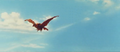 All Monsters Attack - Giant Condor flies in while in stock footage form 3