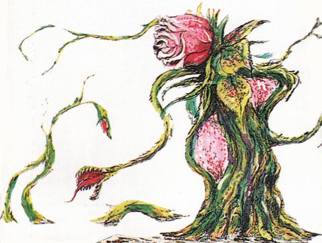 File:Concept Art - Godzilla vs. Biollante - Biollante Rose 8.png