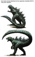 Officially Rejected Godzilla 2014 Concept Designs