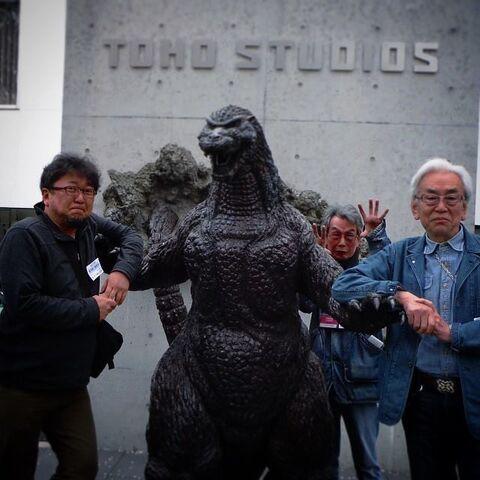 File:Shinji Higuchi with Teruyoshi Nakano and Godzilla.jpg