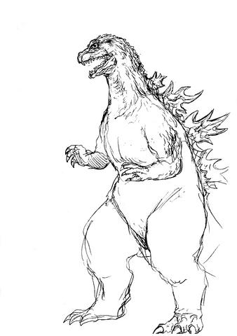 File:Concept Art - Godzilla 2000 Millennium - Godzilla 14.png