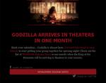 Godzilla One Month Away