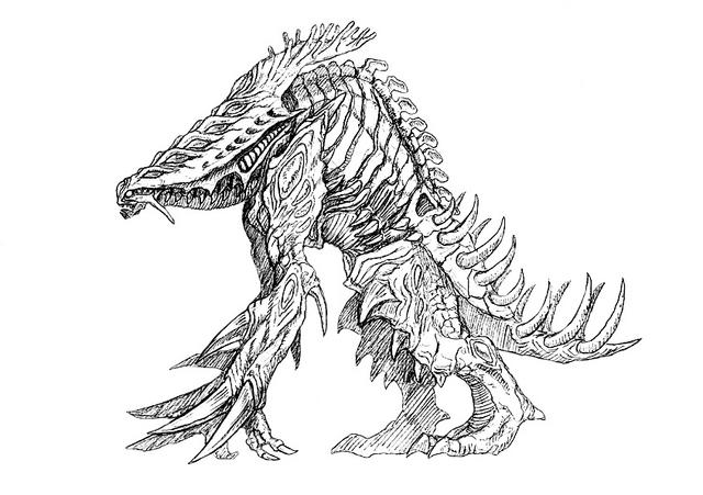 File:Concept Art - Godzilla 2000 Millennium - Orga 90.png