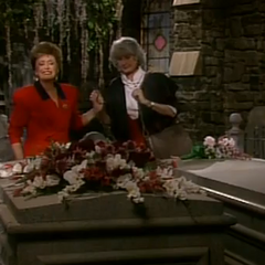 Dorothy saying hello to Blanche's recently deceased <a href=
