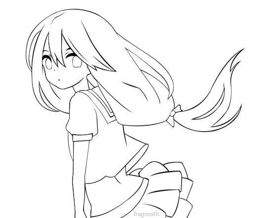 File:Schoolgirl lineart by fragnostic-d3ei4ni.png