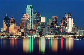 Dallas skyline water1