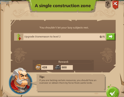A single construction zone
