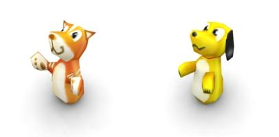 Cat and Dog Thumbling Dolls