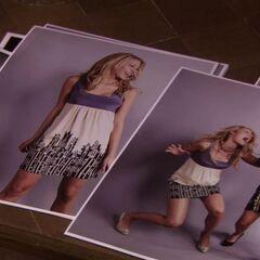 Serena and Blair's modelling photos