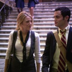 Serena and Dan after the assembly