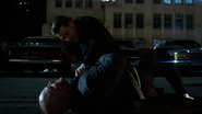 Jim Gordon trying to help a stabbed Nathaniel Barnes