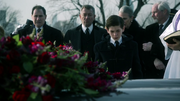 Bruce, Alfred, and Aubrey James at Thomas and Martha's funeral