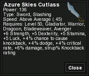 Azure Skies Cutlass