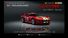 Dodge Viper GTS-R Team Oreca Race Car ♯51 '00