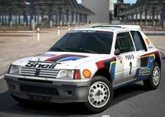 Peugeot 205 Turbo 16 Rally Car '85