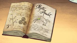 S1e4 gideon's amulet bookpage