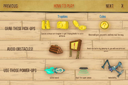 Game mystery tour ride trophy and powerup menu