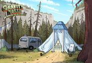 Postcard creator tent of telepathy