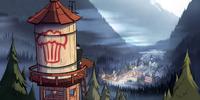 Gravity Falls water tower