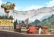 Game postcard creator town