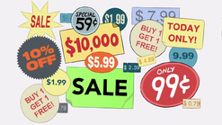 Short8 price stickers