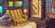 Mystery shack living room bg