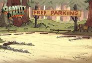 Postcard creator parking lot