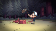 S1e19 Dipper trying to cut wood