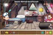 Mystery Shack Mystery Mabel feeds birds