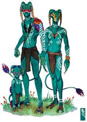 Alien family elgok by zarnala-d3ebftv
