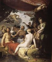 The feast of the gods at the wedding of Peleus and Thetis
