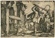 330px-Hercules killing Kakos at his Cave