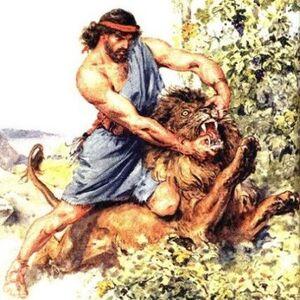 Heracles slays the nemean lion