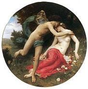 William-Adolphe Bouguereau (1825-1905) - Flora And Zephyr (1875)