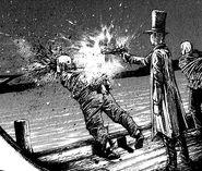 Raymond executing someone
