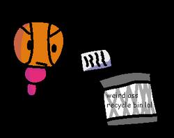 Little Guy's garbage bin