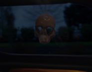 318-Skull from coffee on limo window
