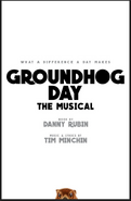 Groundhog Day Broadway second poster