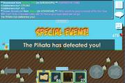 Pinata defeated us