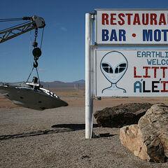 The real life Little Ale' Inn in Rachel, Nevada.