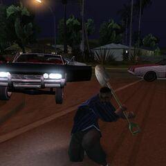 Street criminal punching the player