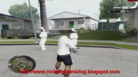 GTA SA - Pocong In Front Of CJ House -Mod-