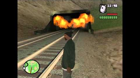 MUST SEE! NEW MYTH! GTA San Andreas - Ghost Train Tunnel Creature HD