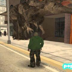 Spinosaurus Aegyptiacus-like dinosaur in Los Santos.