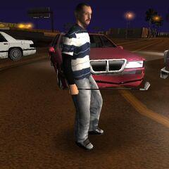 First LV Street Criminal, who looks like a T-Bone, with a golf club