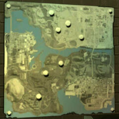 Close up to the UFO map .