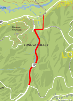GTA V Tongva Drive Map marked